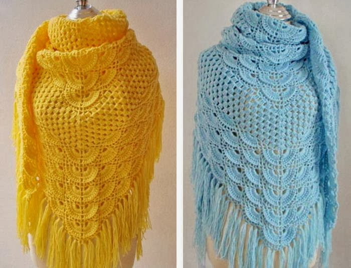 Crocheting Shawls : Crochet Shawl Pattern - Wonderful Shawl For Chic Women