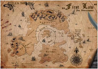El mapa donde se desarrolla la trilogía de La Primera Ley