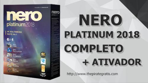 Download Nero Platinum 2018 + Ativador PT-BR Completo