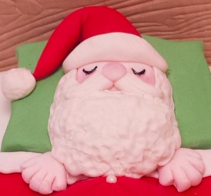 how to make forndant santa