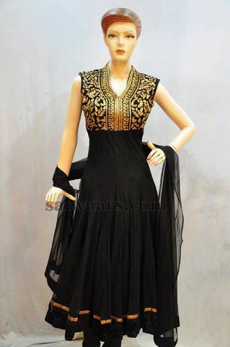 Latest Zardosi Black Salwar
