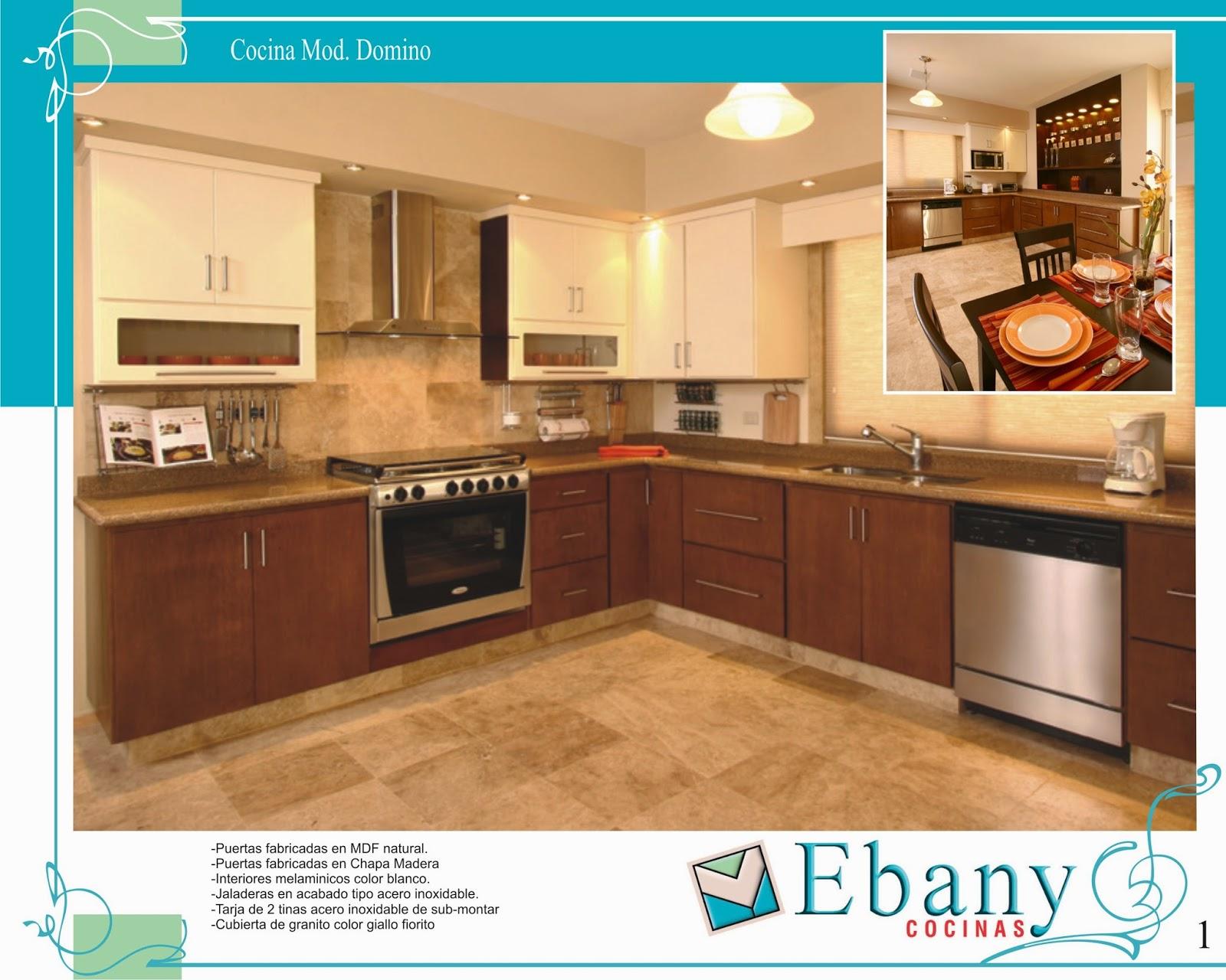 Ebany cocinas integrales catalogo de modelo de cocinas for Modelos de cocinas integrales