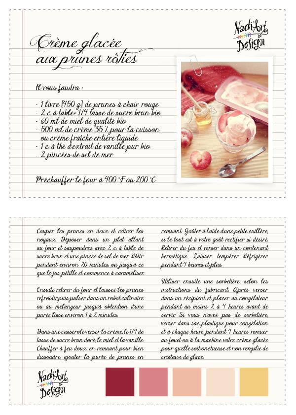 Crème glacée aux prunes rôties