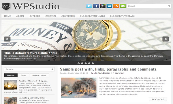 Wp Studaio 2 Column Blogger Template
