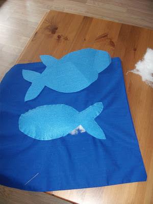 keçe mavi balık yapımı
