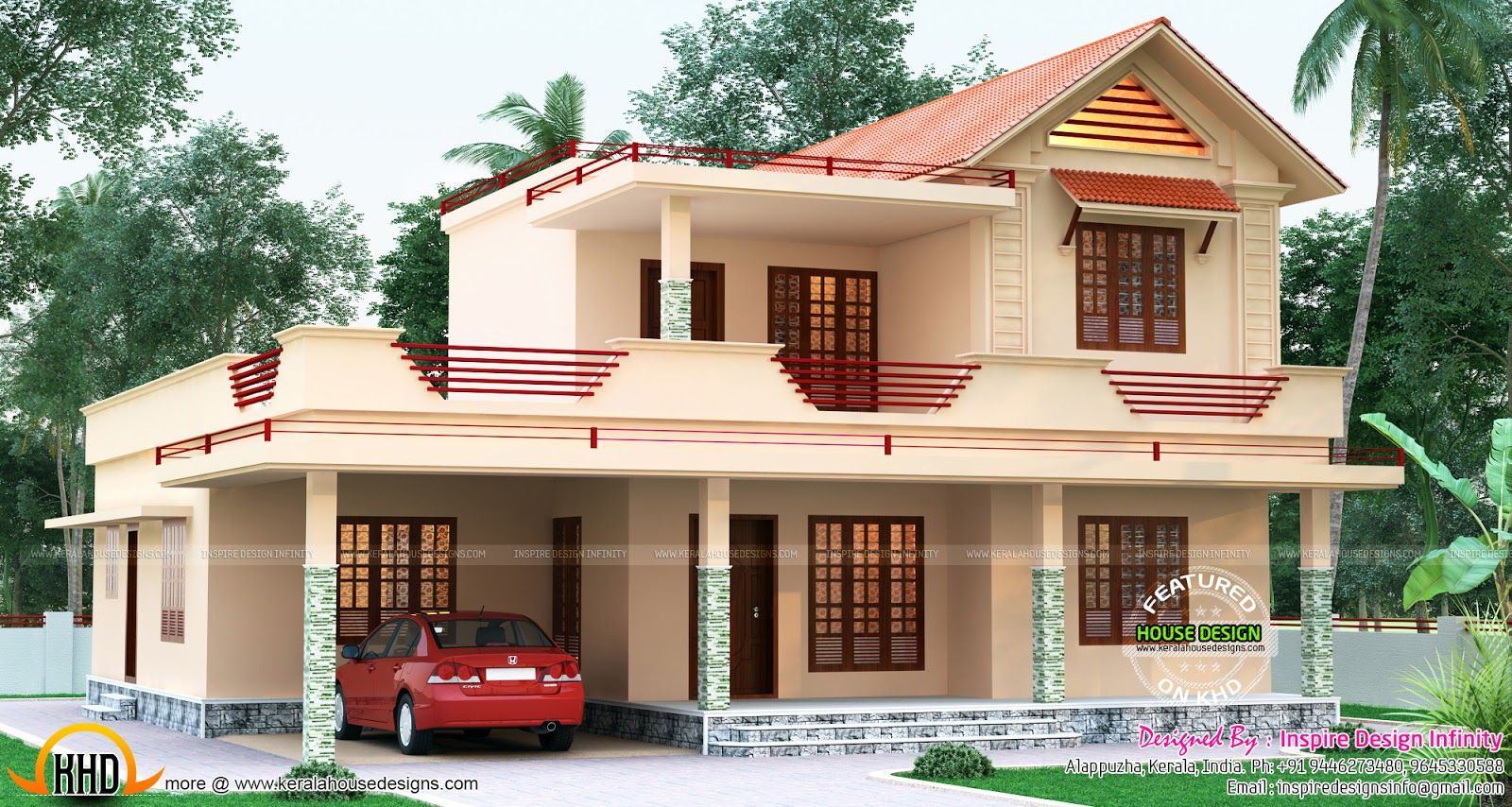Beautiful two storied villa 2450 sq ft