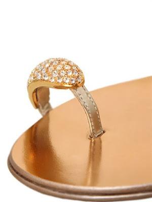 Giuseppe Zanotti flat gold slip-on Sandals