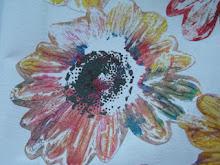 Multifarvet blomstertryk