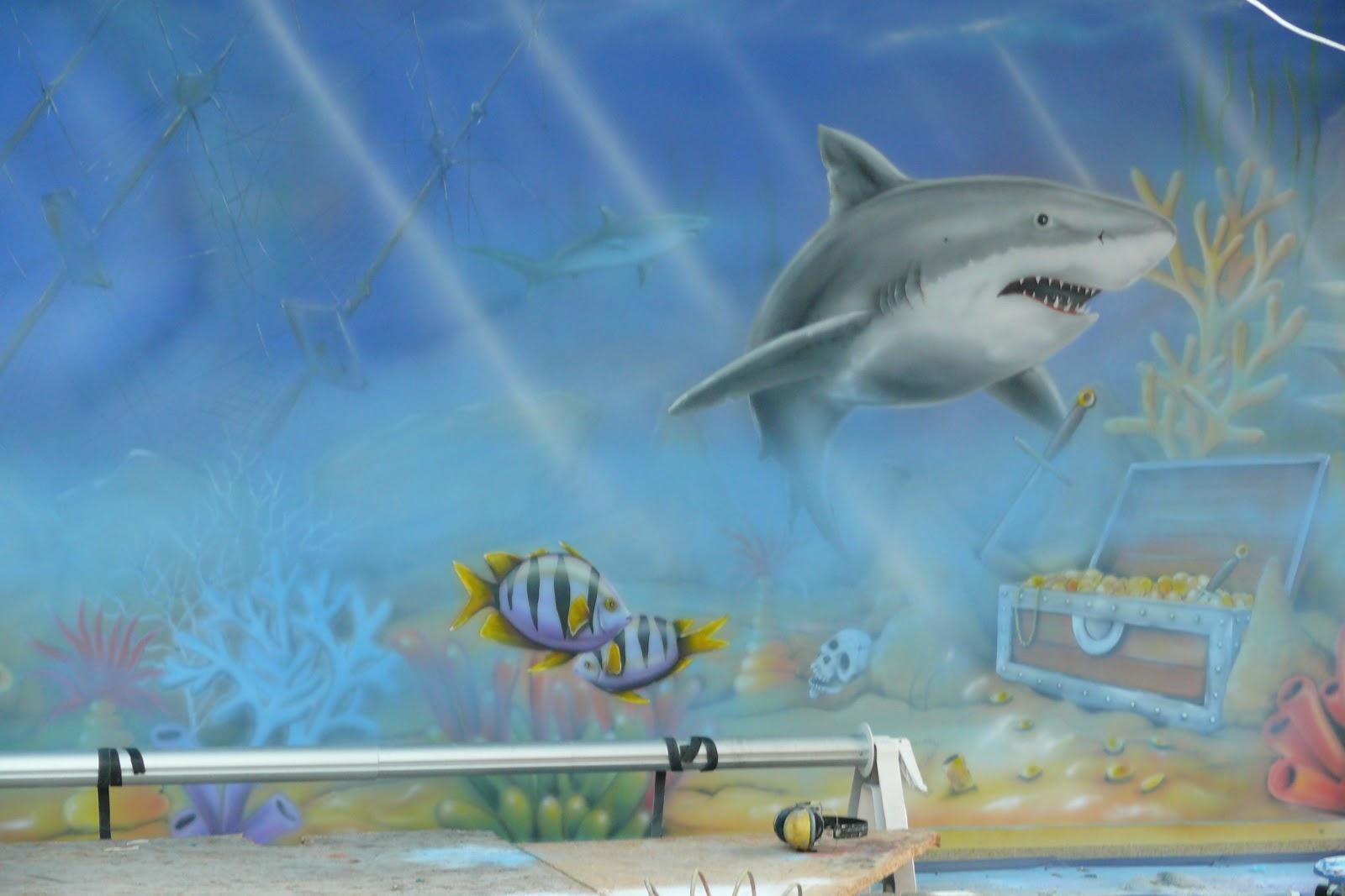 Artystyczne malowanie ścian na basenie ,aranżacja basenu malarstwo ścienne 3D, Warszawa