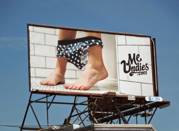 Me Undies bathroom ankles billboard