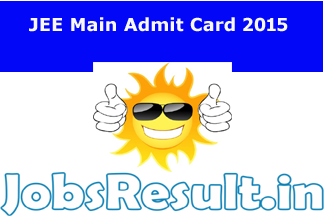 JEE Main Admit Card 2015