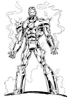 dicas de Desenhos do Homem de Ferro para imprimir e pintar