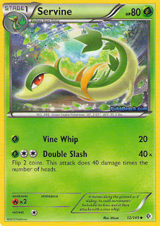 Servine Boundaries Crossed Pokemon Card
