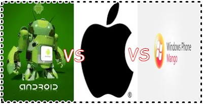 Android 4.0 versus IOS 5 versus Windows Phone 7.5