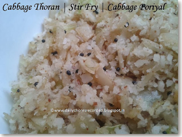 Cabbage Thoran | How to make Cabbage thoran