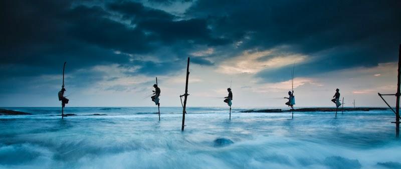 Stilt fishing in weligama sri lanka afaq 39 s blog for Sri lanka fishing