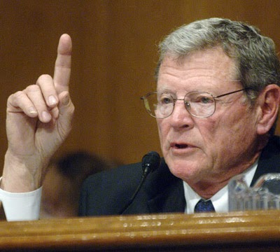 U.S. Sen. James Inhofe  (Credit: smatterofopinion.blogspot.com) Click to enlarge.