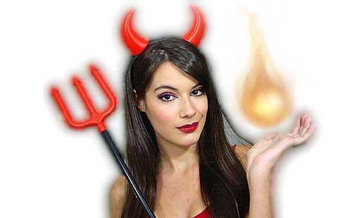 maquillaje de diabla para halloween monika sanchez guapa al instante