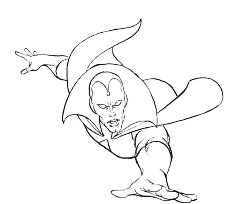 vision marvel Colouring Pages