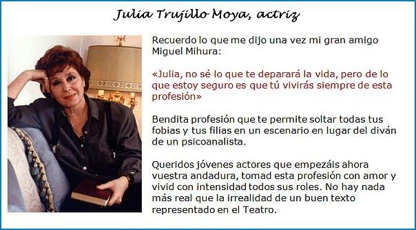 Julia Trujillo Moya, actriz