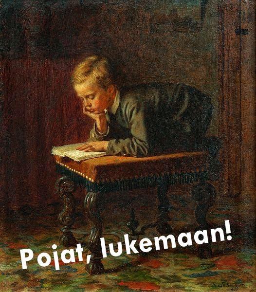Pojat, lukemaan!