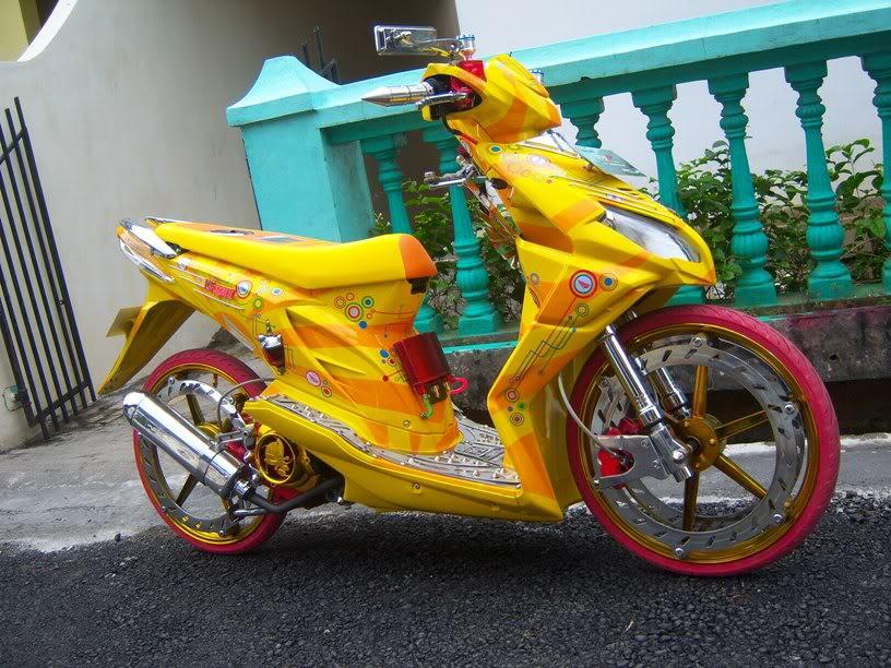 Modifikasi Honda Beat Velg Ring 17