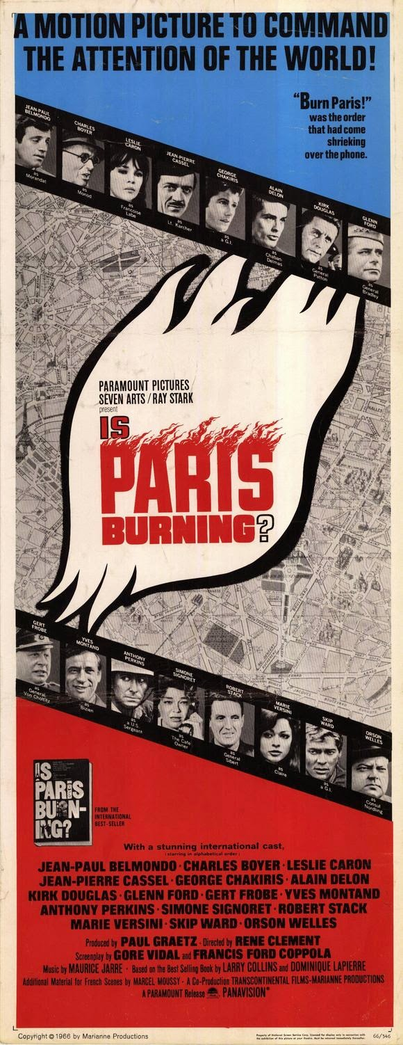 HISTORICAL ALL-STAR CAST EPIC! Is Paris Burning? (1966) Kirk Douglas, Leslie Caron, Glenn Ford