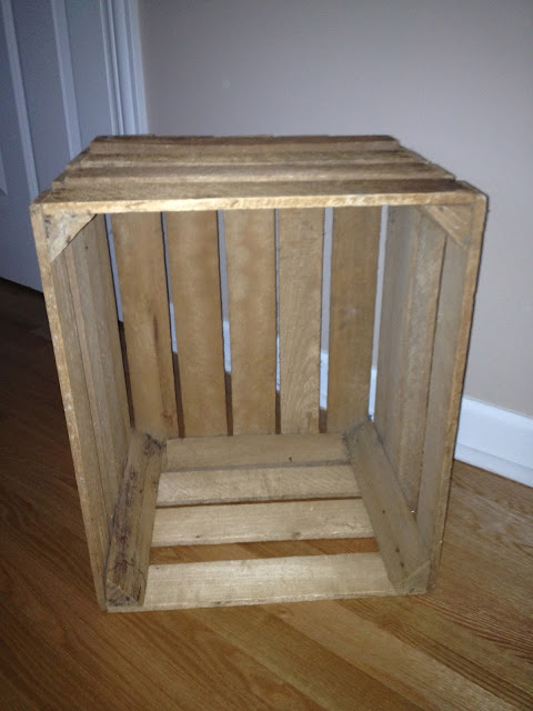 A silly whim apple crate nightstands for Used apple crates