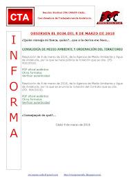 OBSERVEN EL BOJA DEL 8 DE MARZO DE 2018