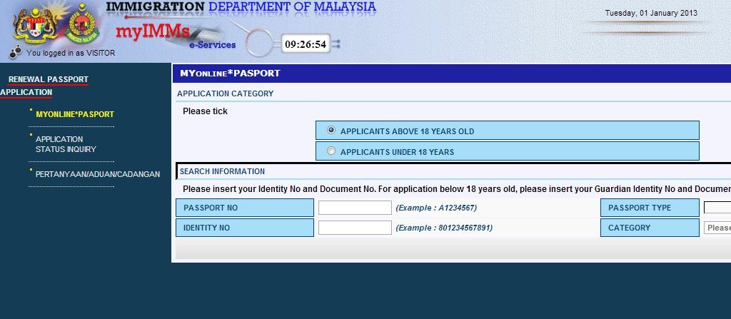 how to get my passport number online