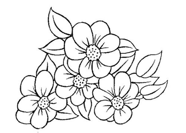 Riscos para bordar ponto russo riscos flores para bordar - Fleurs a colorier ...