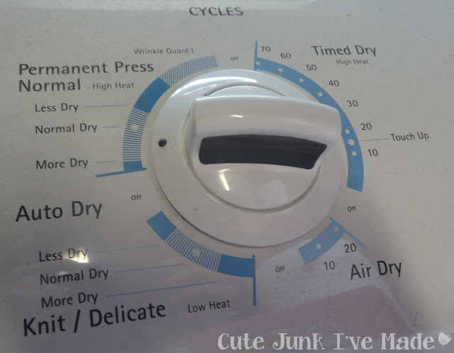 Spring Cleaning:  The Bedrooms - Dryer Settings