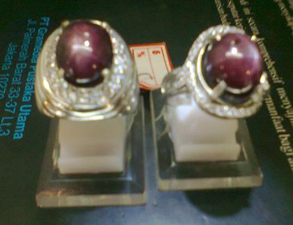 SEPASANG CINCIN RUBY STAR HANYA Rp.3.000.000,-