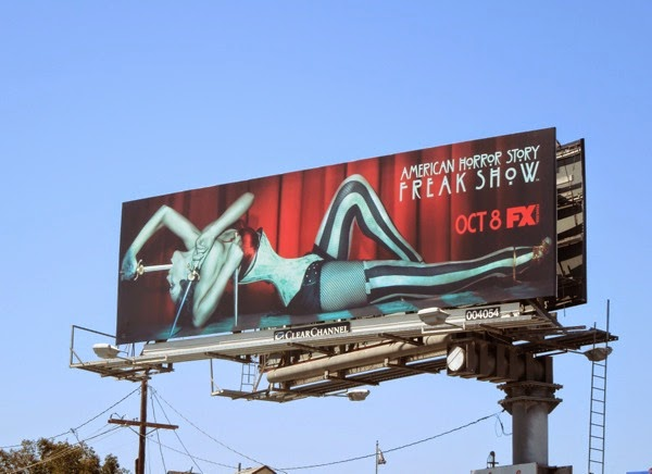 AHS Freak Show three-armed sword swallower billboard