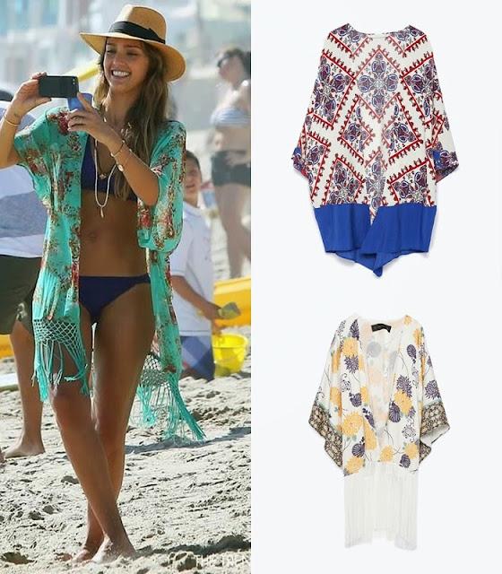 Peças moda tendencia verão 2015 quimono Zara