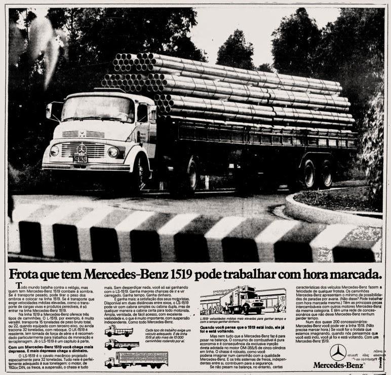 Mercedes-Benz..  propaganda anos 70. propaganda carros anos 70. reclame anos 70. Oswaldo Hernandez.