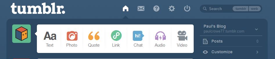 Tumblr Manage Blog Icons