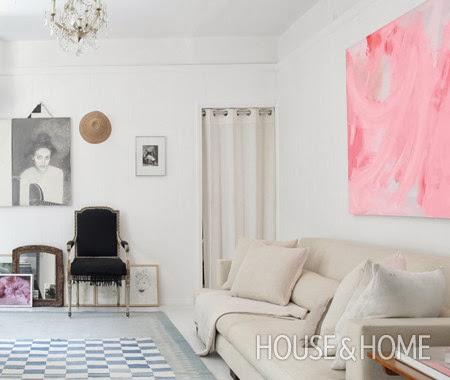 decorar en color blanco y negro un salon
