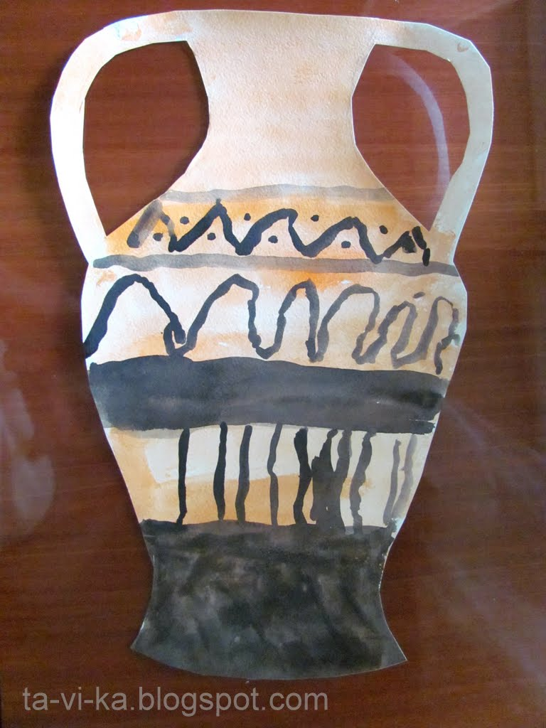 Игры в историю Древняя Греция Это интересно  Поделка греческая ваза