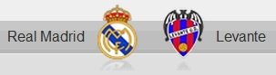 Real Madrid and Levante shields