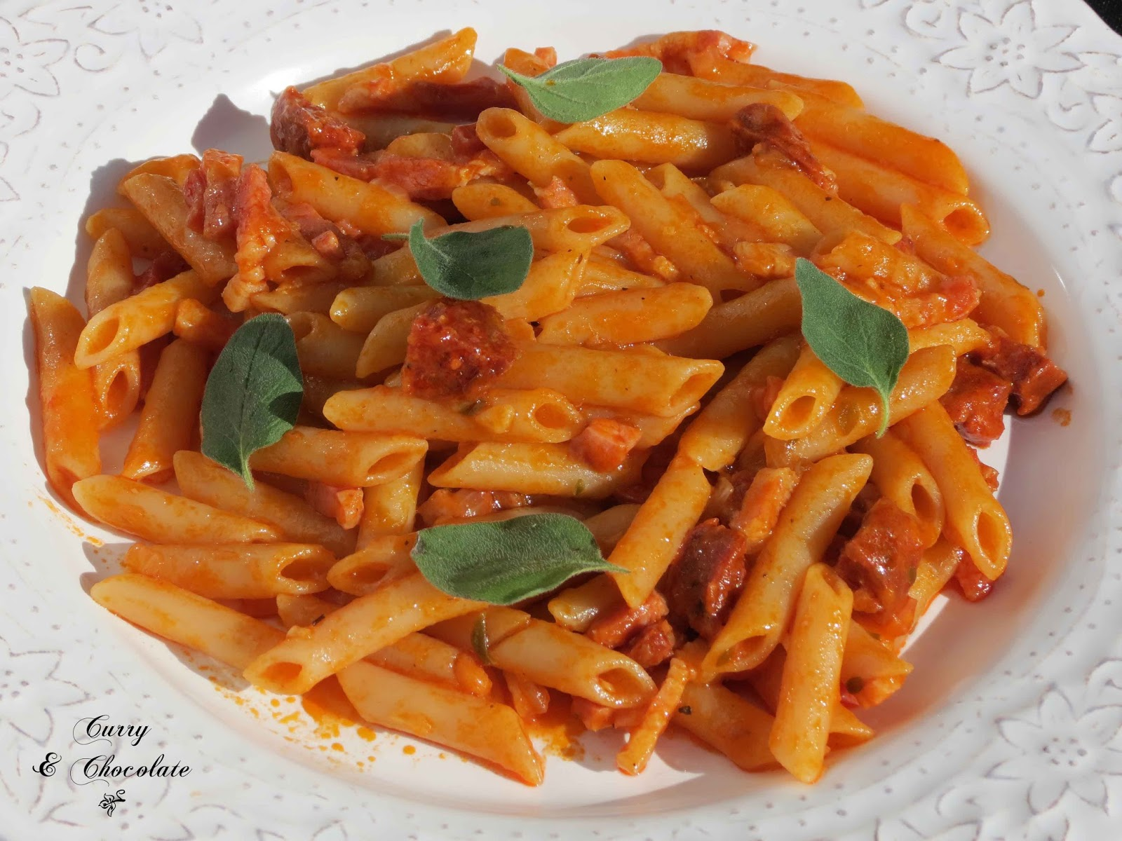 Macarrones con chorizo y bacon – Chorizo and bacon pasta