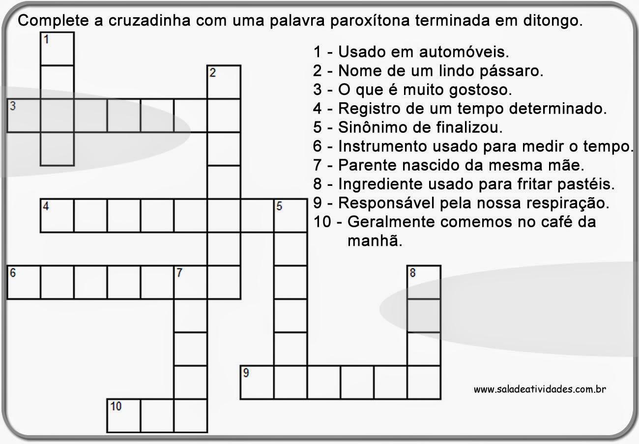 Cruzadinhas de português