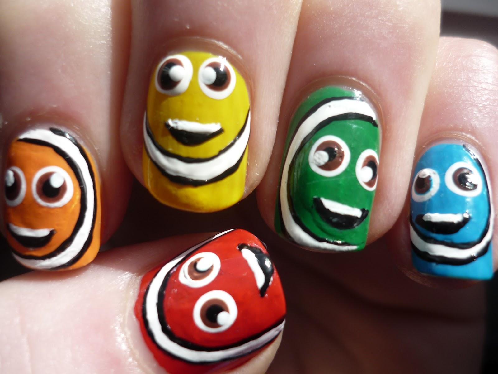 Adorable Faces Nail Art Juliatmll Nail Art