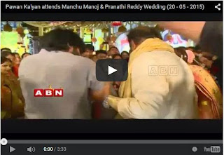 Pawan Kalyan attends Manchu Manoj & Pranathi Reddy Wedding | HD Videos