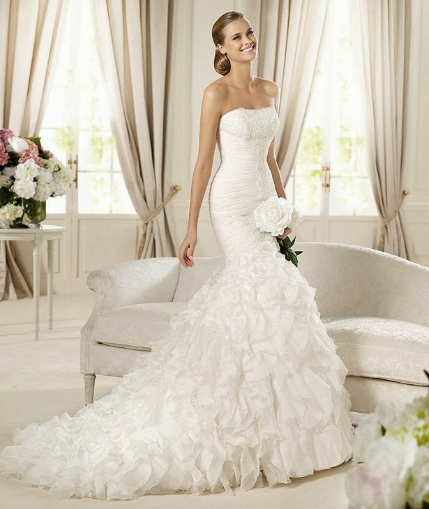 Modern wedding dresses for Trumpet style wedding dresses