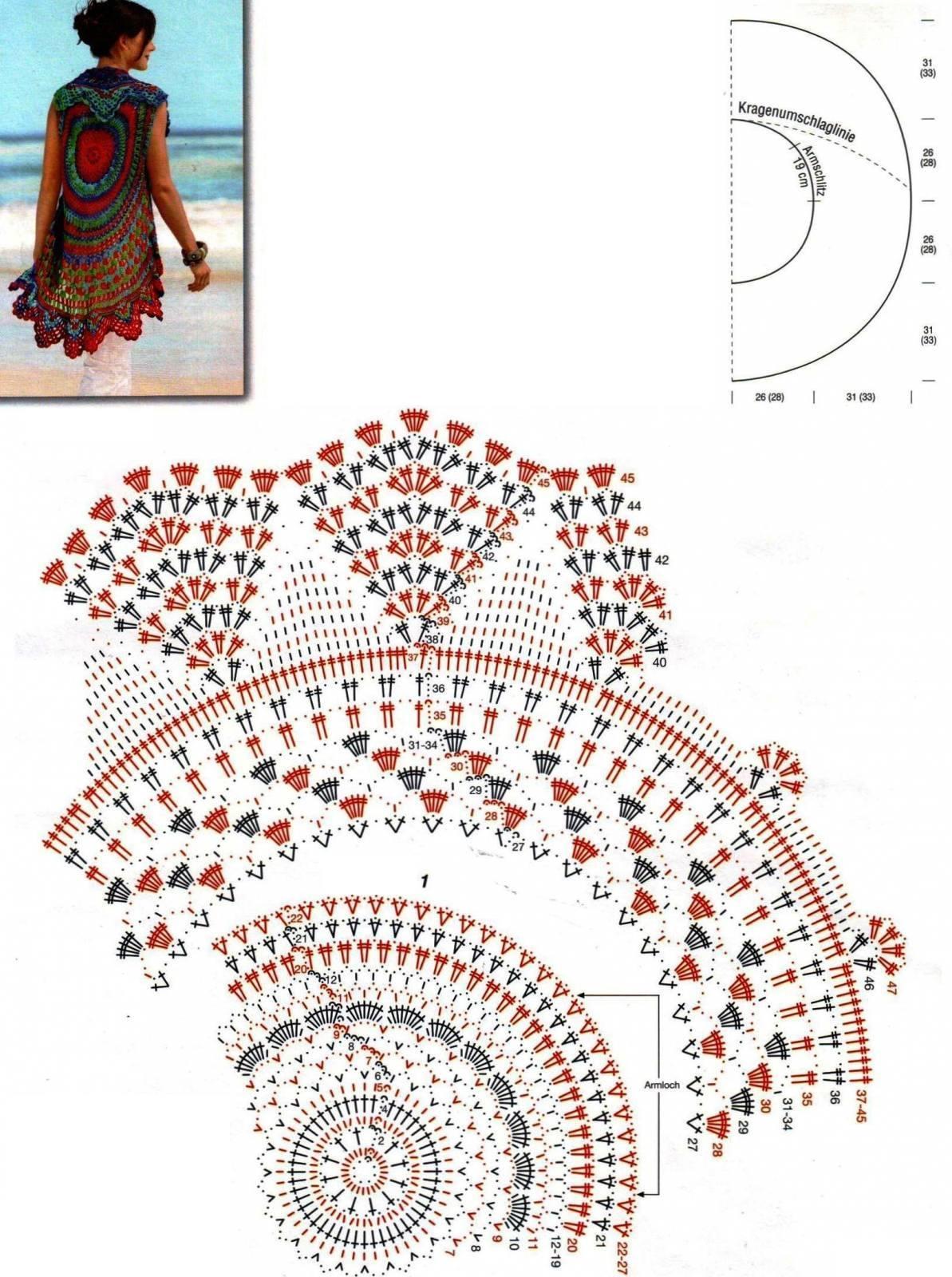 Patrón #684: Chaleco Redondo a Crochet ~ CTejidas [Crochet y Dos ...