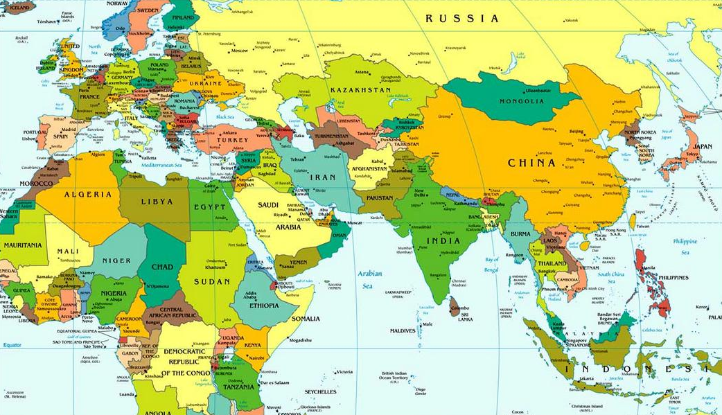 Mapa para imprimir del Mundo Atlas