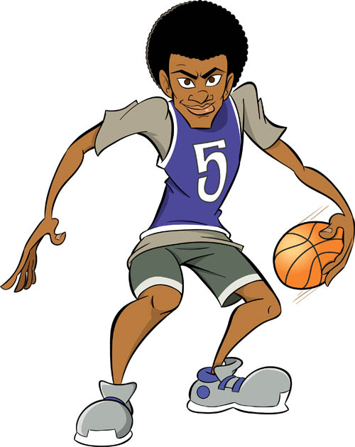 Cartoon Characters Playing Basketball : Jeff s draw cartoon character designs