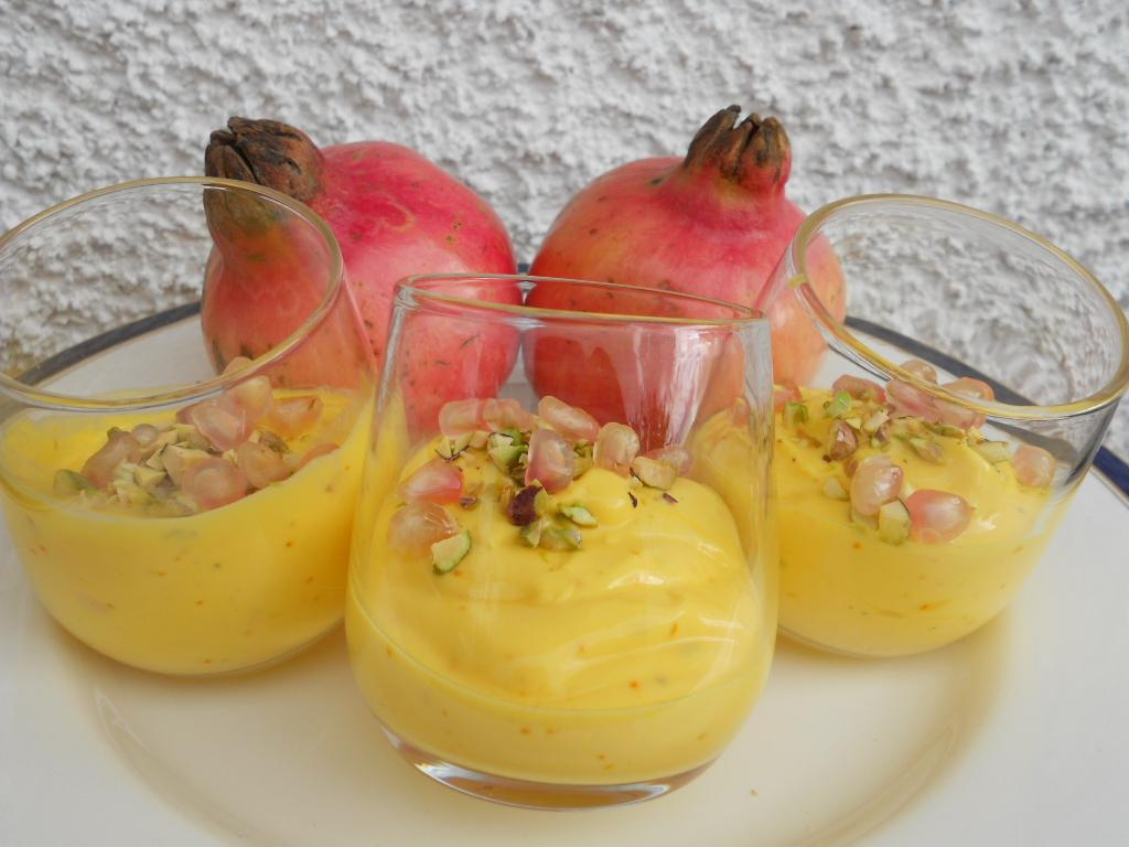 indisk dessert saffran