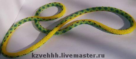 схема плетения лариата из бисера